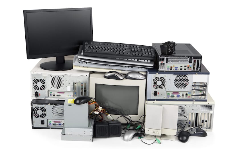 Obsolete computer equipment for recycling